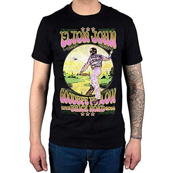 Tiwywln Graphic Tshirt 1 Elton John Goodbye Yellow Brick Road Men's Fashion T-Shirt