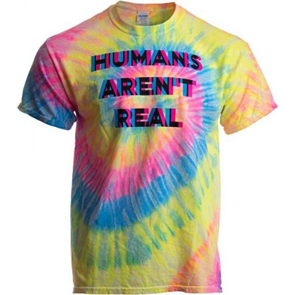 Ann Arbor T-shirt Co. Graphic Tshirt 1 Humans aren't Real | Funny Festival Hippy Rave Drug Tie Dye for Men or Women T-Shirt