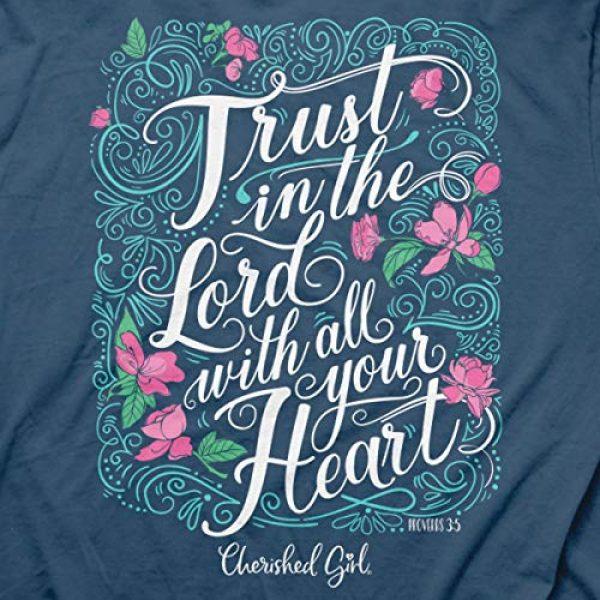 Cherished Girl Graphic Tshirt 2 Women's Trust in The Lord T-Shirt - Indigo -