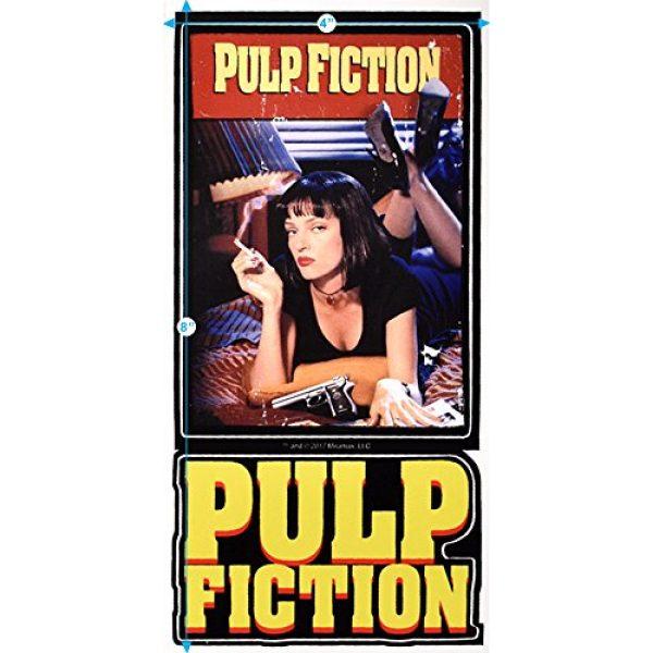 Popfunk Graphic Tshirt 3 Pulp Fiction Movie Uma Thurman John Travolta T Shirt & Stickers