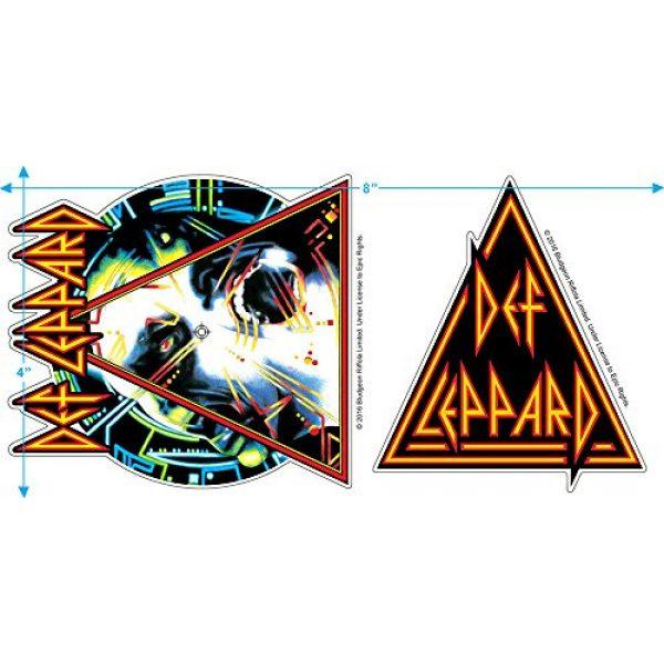 Popfunk Graphic Tshirt 3 Def Leppard Hysteria 80s Rock Album T Shirt & Stickers