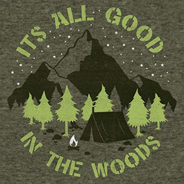Tee Luv Graphic Tshirt 2 It's All Good in The Woods T-Shirt - Graphic Camping Shirt