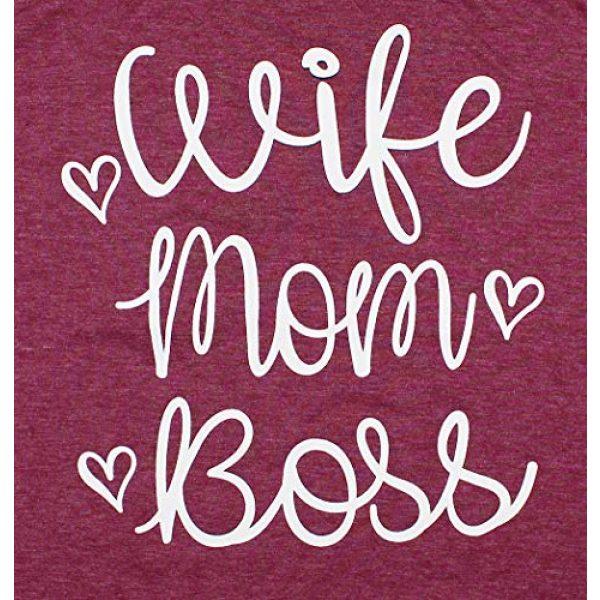 YUYUEYUE Graphic Tshirt 2 Women Wife Mom Boss T Shirt Women Funny Short Sleeve Top