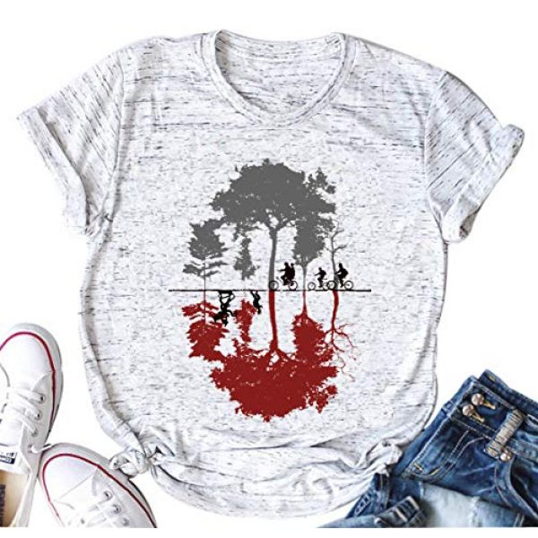 licson Graphic Tshirt 1 Upside Down Stranger Things T Shirt Women's Novelty Graphic 1983 T-Shirt Tees Casual Tops