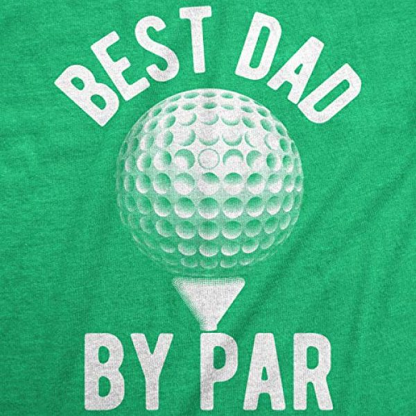 Crazy Dog T-Shirts Graphic Tshirt 2 Mens Best Dad by Par T Shirt Funny Fathers Day Golf Tee Golfing Gift for Golfer