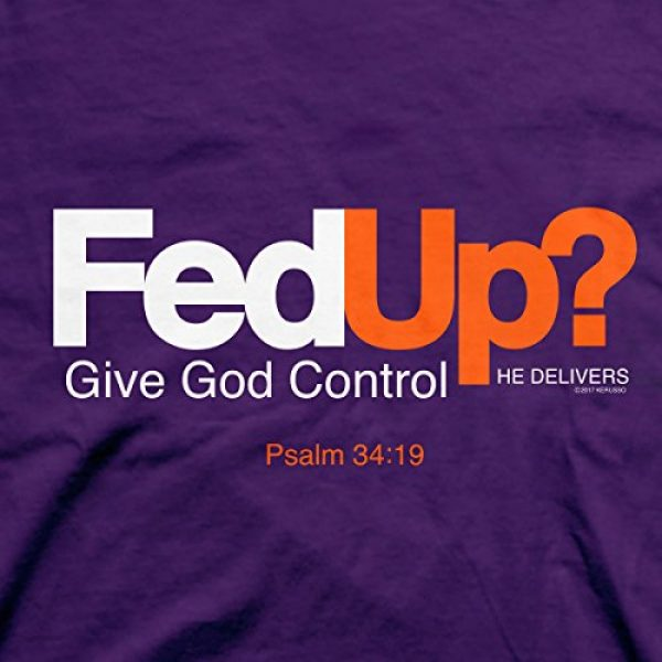 Kerusso Graphic Tshirt 2 Men's Fed Up T-Shirt - Purple -
