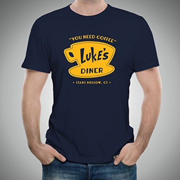 UGP Campus Apparel Graphic Tshirt 4 Luke's Diner - Stars Hollow Coffee Novelty TV Show T Shirt