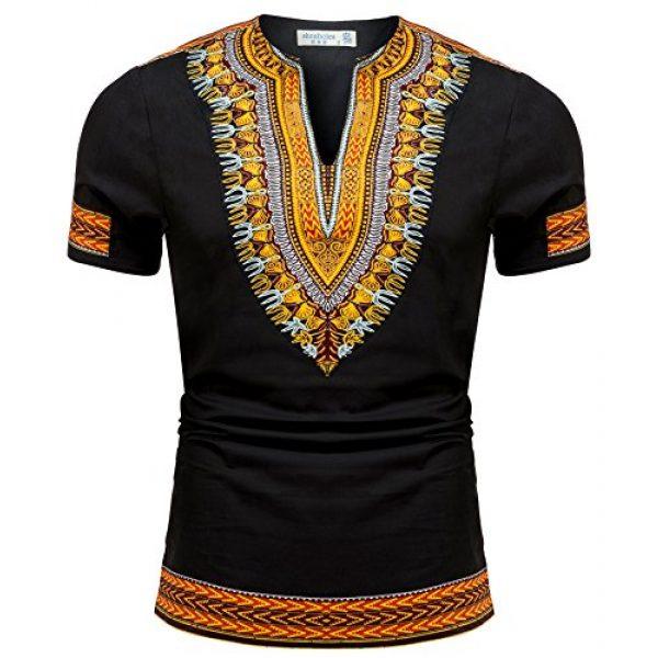 Shenbolen Graphic Tshirt 1 Men's African Print Shirt Dashiki Fashion T-Shirt Tops