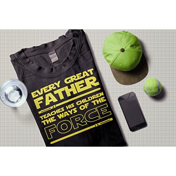 Muggies Graphic Tshirt 3 Funny T-Shirt for Dad Every Great Father Teaches The Force