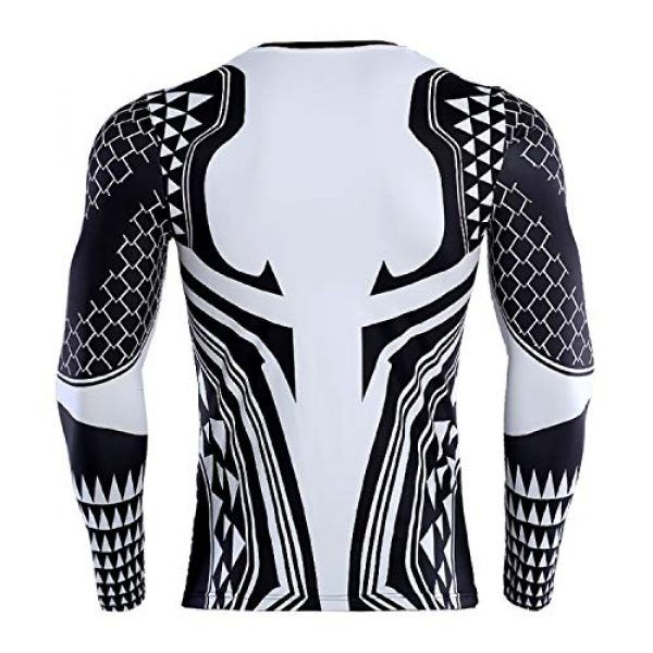 GYM GALA Graphic Tshirt 3 Aquaman Shirt Men's 3D Printed Compression Shirt