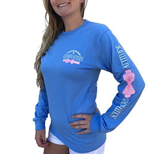 Southern Attitude Graphic Tshirt 2 Sassy Chevron Deer Skull Carolina Blue Long Sleeve Shirt