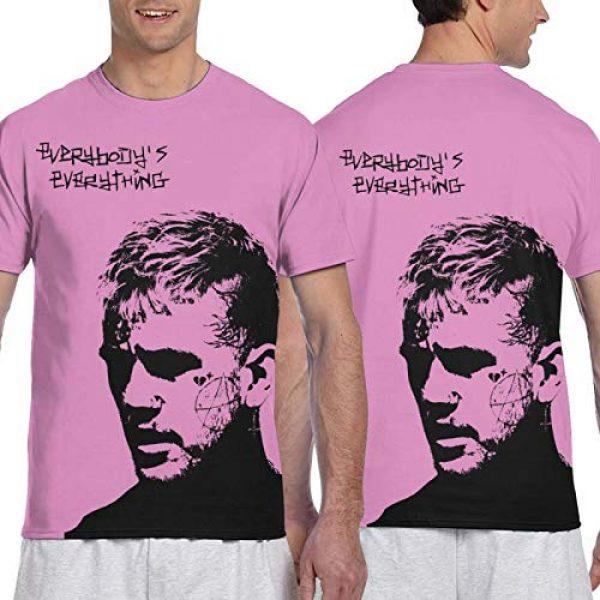 YFCTYLS Graphic Tshirt 3 Lil Peep Man Novelty 3D Printed Short Sleeve T-Shirt