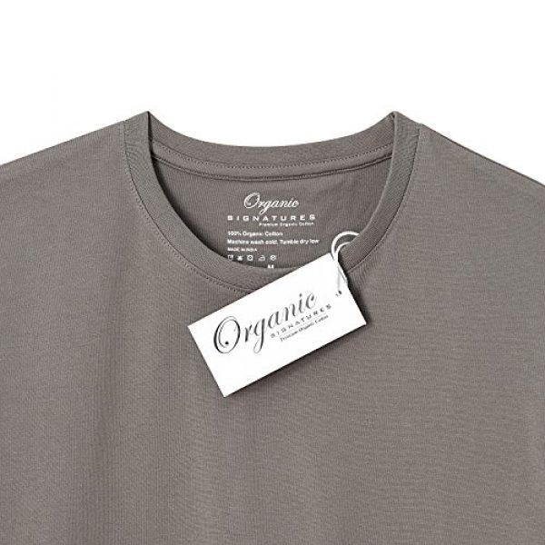 Organic Signatures Graphic Tshirt 5 Men's Short-Sleeve Crewneck 100% Organic Cotton T-Shirt