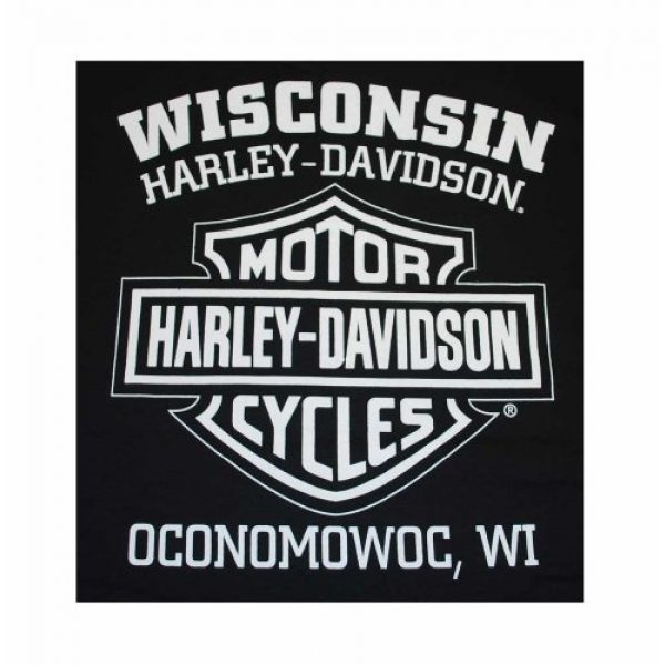 Wisconsin Harley-Davidson Graphic Tshirt 2 Harley-Davidson Men's Knucklehead Engine Authentic T-Shirt Black 30298302