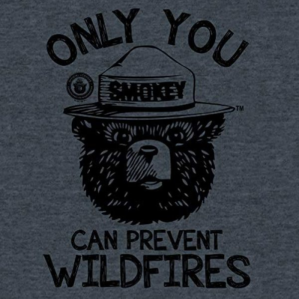 Tee Luv Graphic Tshirt 2 Smokey Bear T-Shirt - Only You Can Prevent Wildfires Graphic Tee