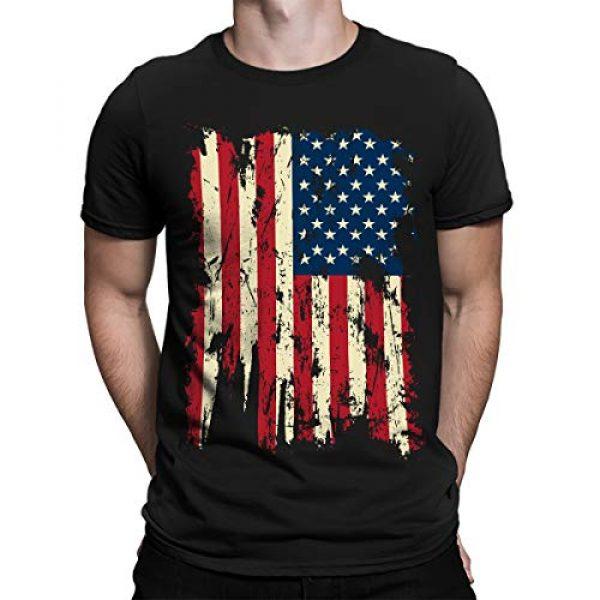 SpiritForged Apparel Graphic Tshirt 1 Vintage Distressed USA Flag Men's T-Shirt