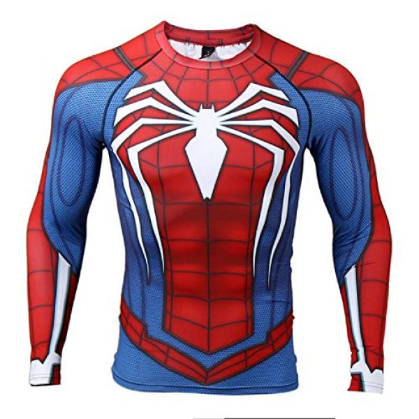 COOLMAX Graphic Tshirt 1 Raglan Sleeve Spiderman 3D Printed T Shirts Men Compression Shirts