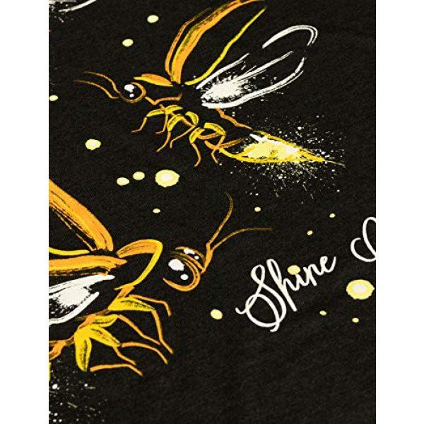 Ann Arbor T-shirt Co. Graphic Tshirt 5 Fireflies | Lightning Bug Firefly Nature Art Insect Fire Fly V-Neck T-Shirt for Women