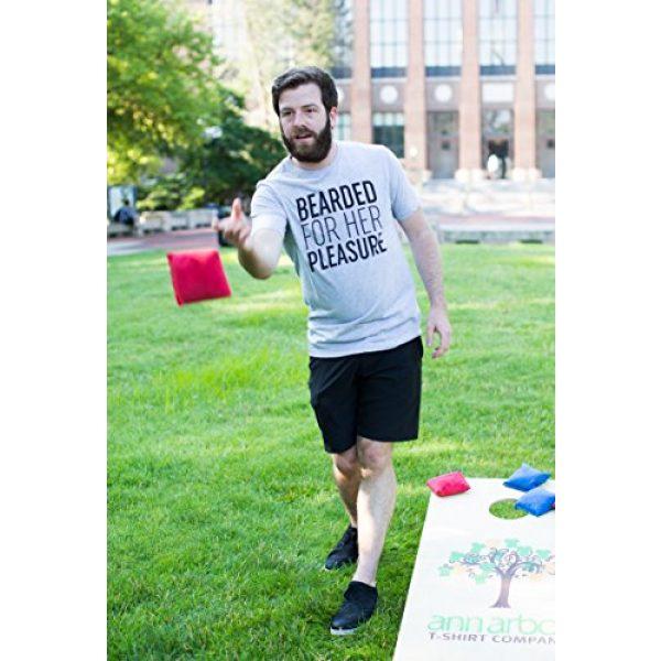 Ann Arbor T-shirt Co. Graphic Tshirt 5 Bearded for Her Pleasure | Funny Beard, Men's Facial Hair Humor Unisex T-Shirt