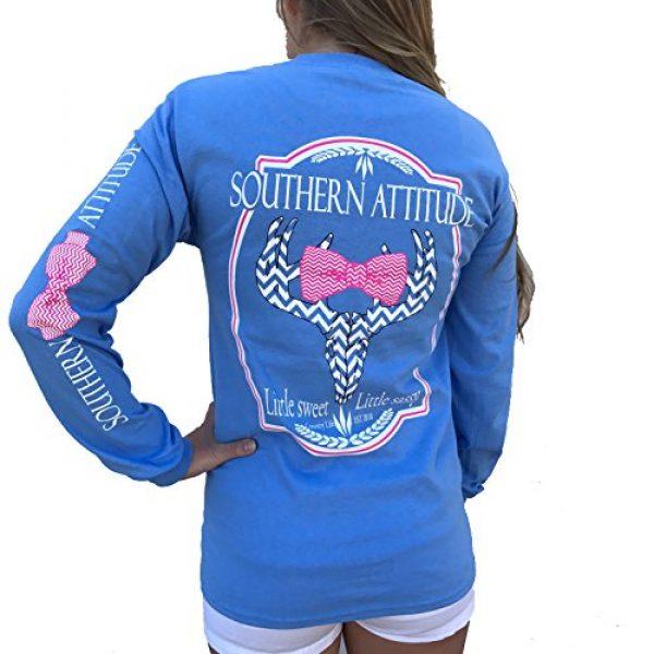 Southern Attitude Graphic Tshirt 1 Sassy Chevron Deer Skull Carolina Blue Long Sleeve Shirt