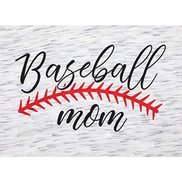 UNIQUEONE Graphic Tshirt 3 Baseball Mom T-Shirt Women Letter Print Funny Tops Short Sleeve Casual Tee