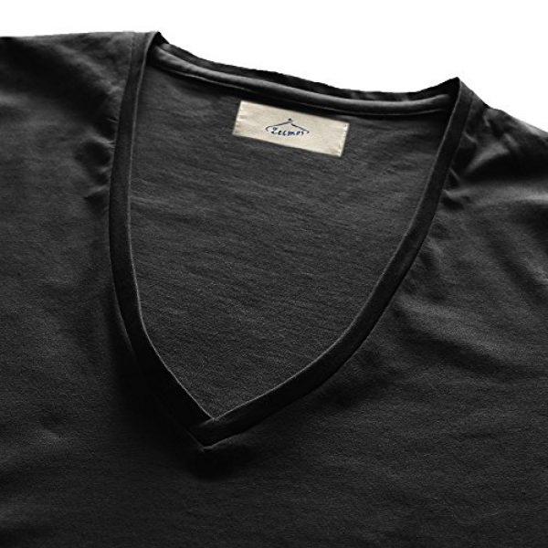 Zecmos Graphic Tshirt 3 Mens Deep V Neck T-Shirt Unisex Tshirt Male Vneck Tee Top