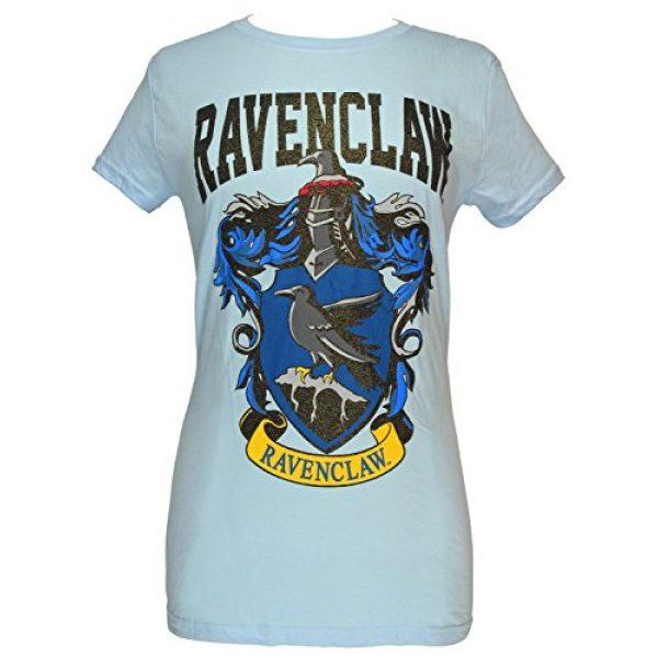 Harry Potter Graphic Tshirt 1 Ravenclaw House Juniors Glitter Blue T-shirt