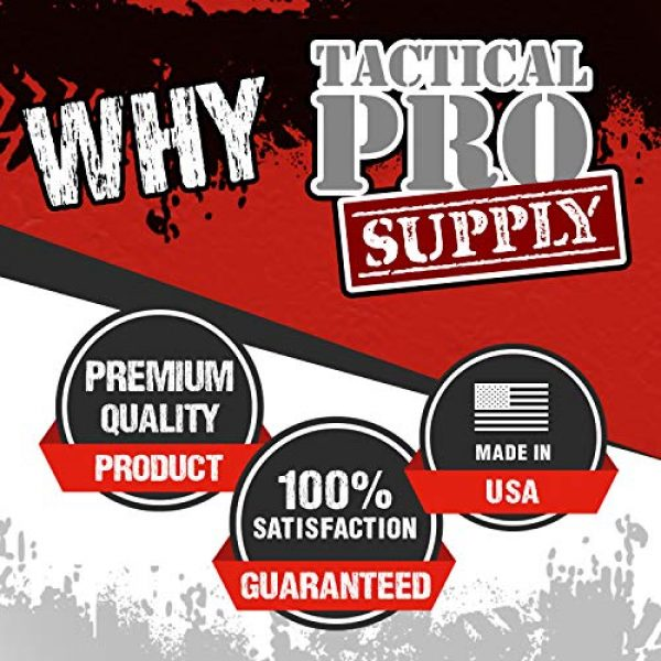 Tactical Pro Supply Graphic Tshirt 6 Pro Gun US Flag Military Army Mens T-Shirt Printed & Packaged in The USA