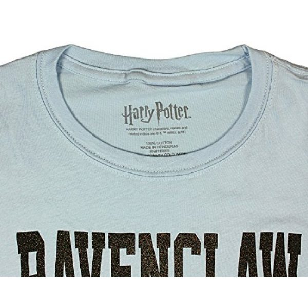 Harry Potter Graphic Tshirt 3 Ravenclaw House Juniors Glitter Blue T-shirt