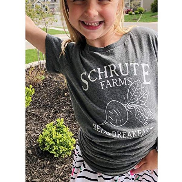 OUNAR Graphic Tshirt 6 Women Schrute Farms Shirt Cute The Office Graphic T-Shirt Sweatshirt with Pocket