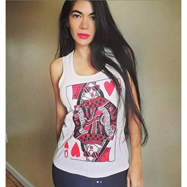 Crazy Dog T-Shirts Graphic Tshirt 3 Womens Queen of Hearts T Shirt Funny Vintage Graphic Cool Cute Tee for Ladies