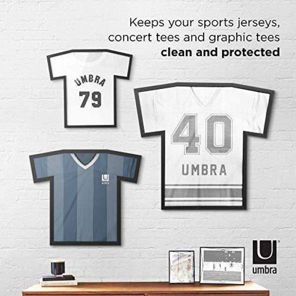 Umbra Graphic Tshirt 7 Umbra T-frame Unique Display Case to Showcase Adult Sized T-Shirts (Small to Large), Medium, Black