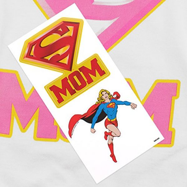 Popfunk Graphic Tshirt 6 Superman Super Mom Pink Logo DC Comics T Shirt & Stickers