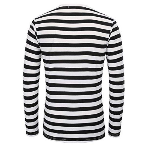 PJ PAUL JONES Graphic Tshirt 5 Men's Basic Striped T-Shirt Crew Neck Cotton Shirt