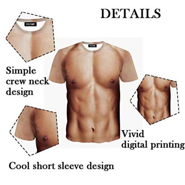 JIAYIQI Graphic Tshirt 4 3D Art Printed Short Sleeves Muscle T-Shirt Casual Summer Tees for Men