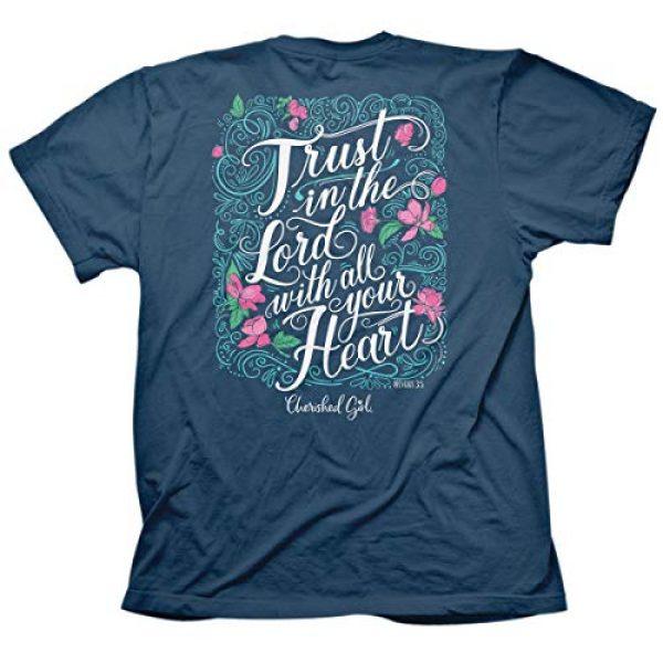 Cherished Girl Graphic Tshirt 1 Women's Trust in The Lord T-Shirt - Indigo -