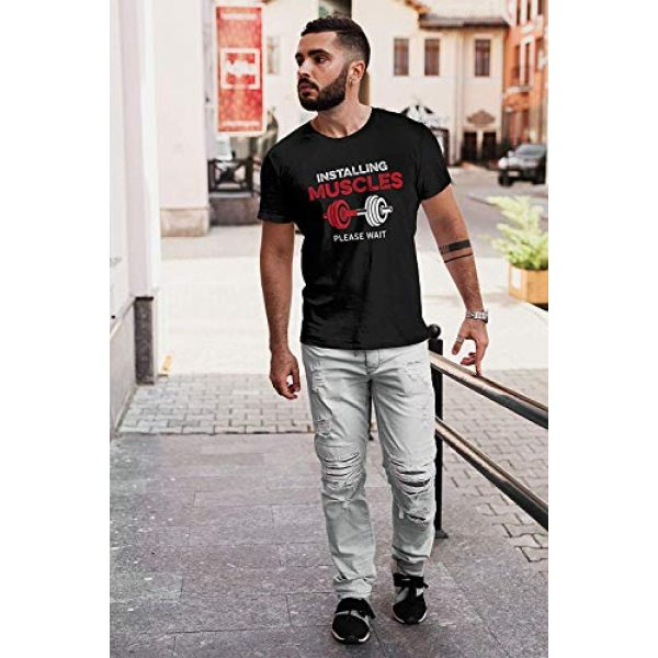 Decrum Graphic Tshirt 3 Funny Weightlifting Shirts for Men - Bodybuilding Gym Black Graphic T Shirt - Workout Muscle Tees