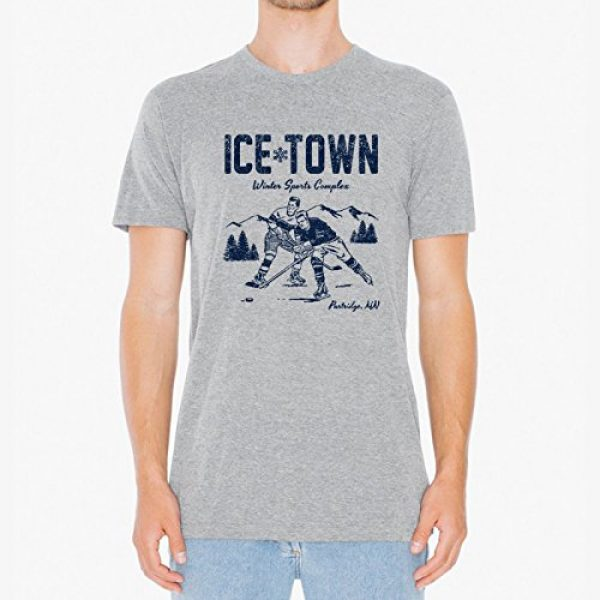 UGP Campus Apparel Graphic Tshirt 4 Ice Town - Funny TV Ben Winter Sports Complex Parody T Shirt