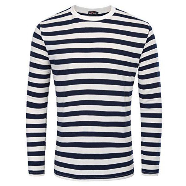 PJ PAUL JONES Graphic Tshirt 1 Men's Basic Striped T-Shirt Crew Neck Cotton Shirt