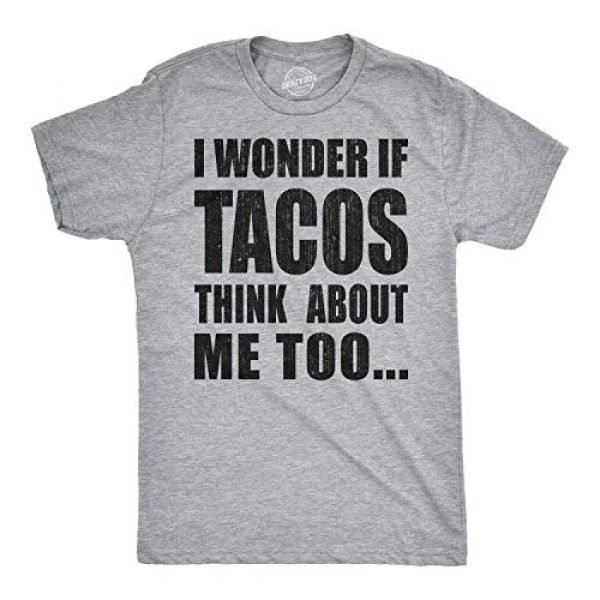Crazy Dog T-Shirts Graphic Tshirt 1 Mens I Wonder If Tacos Think About Me Too Funny Taco Tuesday Sarcastic Graphic