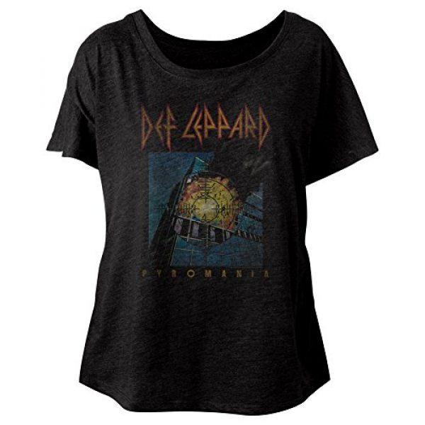 American Classics Graphic Tshirt 2 Def Leppard 80s Heavy Metal Band RocknRoll Pyromania Ladies Slouchy T-Shirt Tee