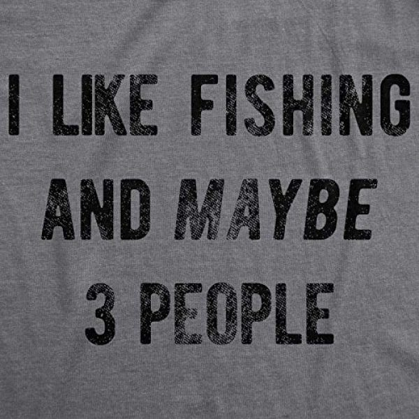 Crazy Dog T-Shirts Graphic Tshirt 2 Mens I Like Fishing and Maybe 3 People T Shirt Funny Hunting Graphic Gift Dad