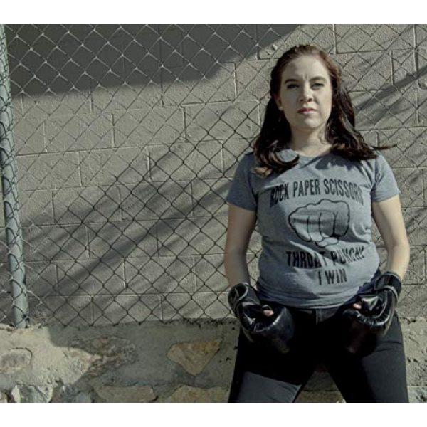Crazy Dog T-Shirts Graphic Tshirt 2 Womens Rock Paper Scissors Throat Punch T Shirt Funny Sarcastic Humor Tee Girls