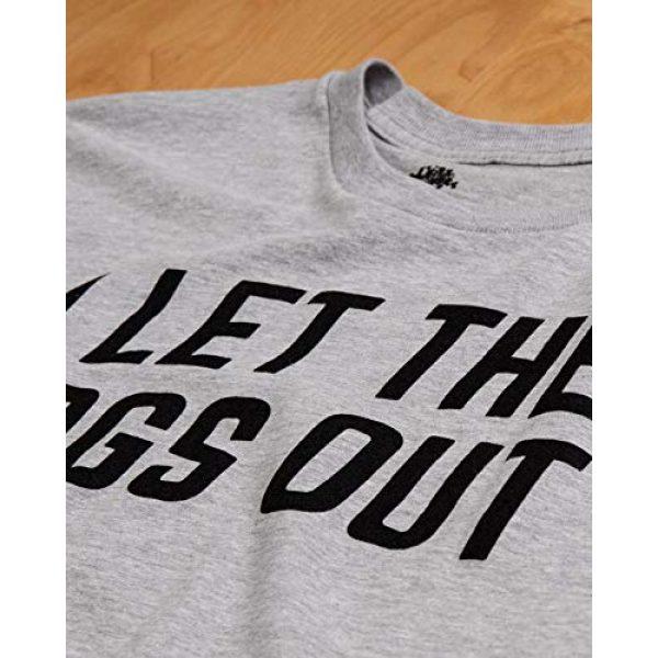 Ann Arbor T-shirt Co. Graphic Tshirt 5 I Let The Dogs Out | Funny Dog Walker Joke Pet Owner Humor Men Women T-Shirt