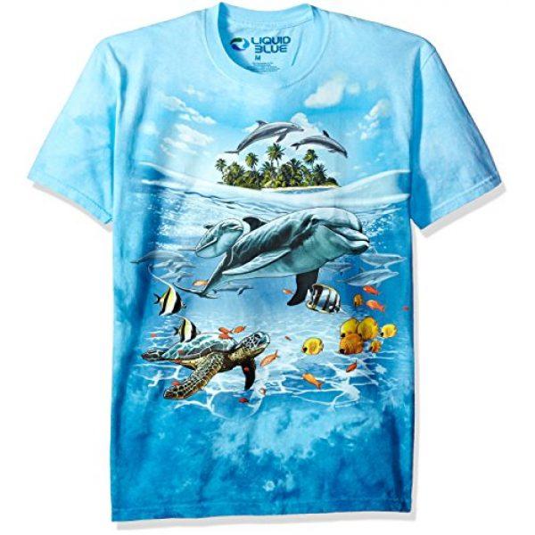 Liquid Blue Graphic Tshirt 1 Men's Dolphin Domain T-Shirt