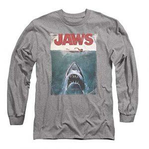 Popfunk Graphic Tshirt 1 Jaws Shark Movie Poster & Quint Longsleeve T Shirt & Stickers
