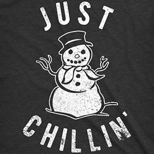 Crazy Dog T-Shirts Graphic Tshirt 2 Mens Just Chillin Snowman T Shirt Hilarious Saying Funny Christmas Novelty Guys