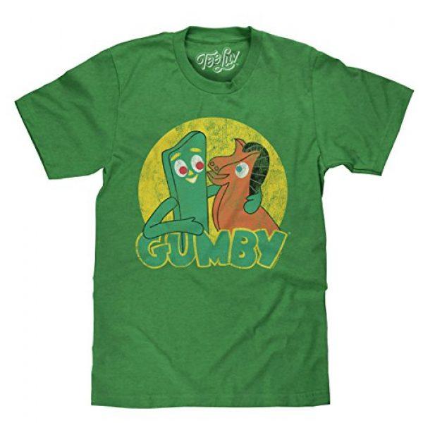 Tee Luv Graphic Tshirt 1 Gumby T-Shirt - Gumby and Pokey Cartoon Shirt (Green)