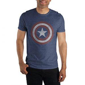 Marvel Graphic Tshirt 1 Comics Captain America Logo Men's Blue T-Shirt Tee Shirt