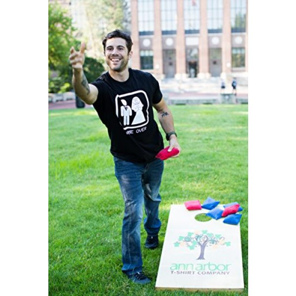 Ann Arbor T-shirt Co. Graphic Tshirt 5 Game Over | Funny Bachelor Party, Wedding Groomsman Humor Groom Men T-Shirt